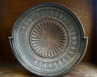 Antique English Handled Basket Tray Dish Bowl Plate Plate on Foot circa 1900's / English Shop