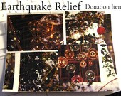 HELP JAPAN Earthquake Relief Imagining the Past Cardstock Collage (100 Percent of Proceeds Donated to GlobalGiving) No Coupon Codes/Promos