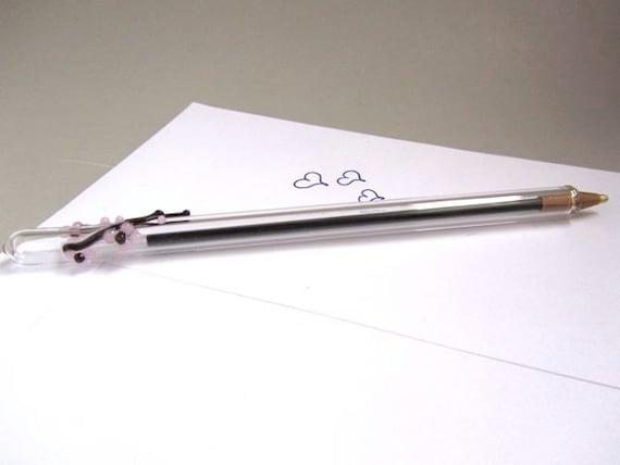 Cherry Blossom Glass Writing Pen