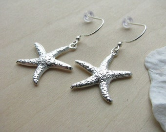 Bridesmaid Jewelry Starfish Earrings Bridesmaid Earrings Star Fish