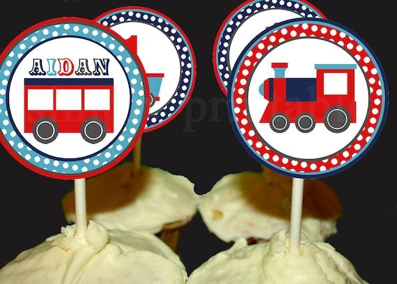 PRINTABLE Train Cupcake Toppers (Digital File)