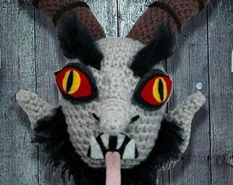 Krampus head door decoration - CUSTOM