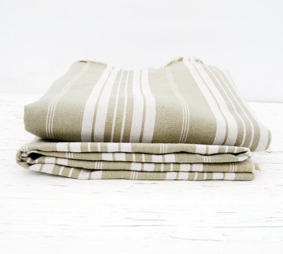 RESERVED for P French Mattress Ticking fabric & Bowl