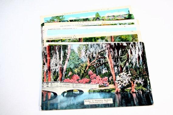 10 Vintage Charleston South Carolina Postcards Used
