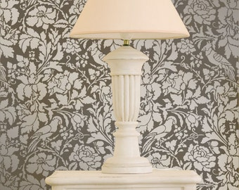 French Floral Damask Allover Stencil for Elegant DIY Wall Decor