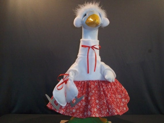 Large Goose Ice Skater Outfit (Red)