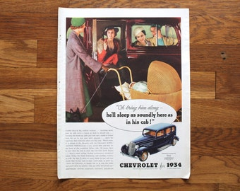 Vintage McCall's May 1934 Chevrolet Ad / Ivory Soap Ad