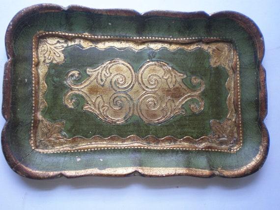 Vintage Sweet Florentine Tray