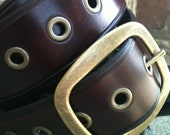 Cordovan Blood Handcrafted Leather Belt
