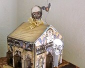 Halloween Haunted House  steampunk  DIY Edgar Allen Poe Poem Instant download