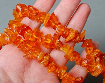 Strap of Genuine Baltic Amber beads, chips