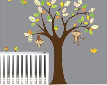 Decal Vinyl Wall Decals Wall Stickers Tree Owls Birds