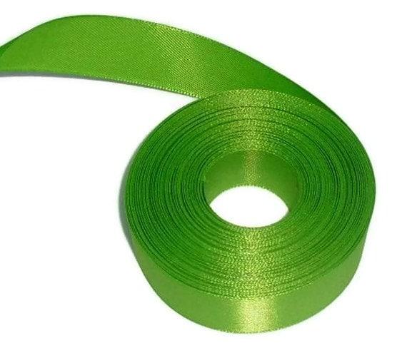 """Destash...Green Ribbon 7/8"""" X 12 yards"""