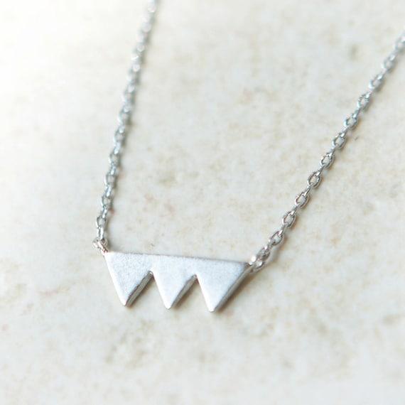 Triade silver triangle Necklace