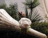 Crochet Rose Ring White