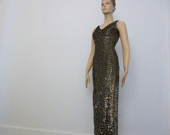 1970s Vintage Sexy Disco Gown Dress Climax