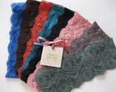 stretch lace headband set -  5 lace headbands, lace headband fascinator, hair wraps