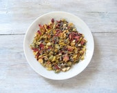 Lavender Lullaby Organic Herbal Tea • Blend of Chamomile, Rose & Lavender • Soothing Sleep • Luxury Loose Leaf Tea