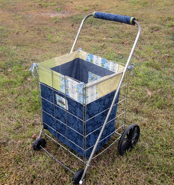 629 Canvas Twill Shopping Cart Liner with Comfort Handle Cover