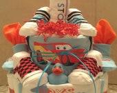 Lightning McQueen Baby Boy Diaper Cake