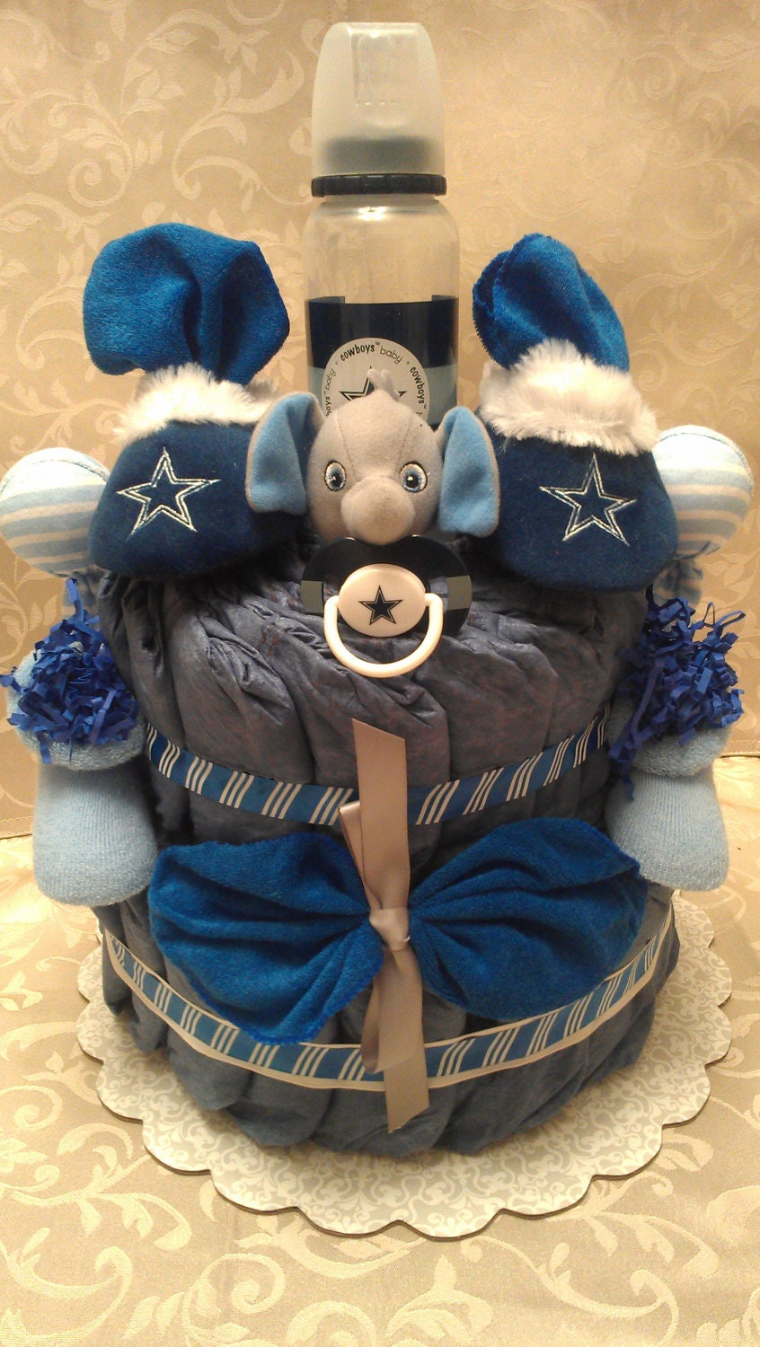 Baby Shower Gifts Dallas ~ Nfl dallas cowboys diaper cake by treasuresbycrys on etsy
