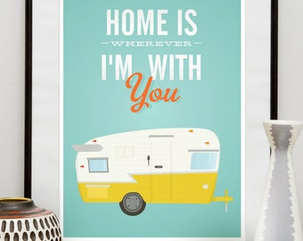 Inspirational quote print home poster trailer print for Classic housewarming gifts