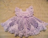 Beautiful Purple Crocheted Baby Dress