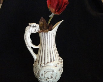 Set of 2 Red Wing Pottery Pitchers or Flower Vases for Home Decor 1940's or l950's