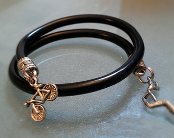 Brake Cable Wrap Bracelet Bangle - CBBLK01