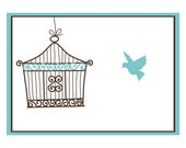 SPECIAL CLOSE OUT:  Birdcage Note Cards