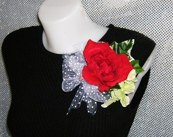 Red Rose Corsage For Weddings, Prom, Special Events