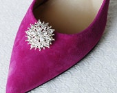 Bridal Shoe Clips Crystal Rhinestone Shoe Clips Wedding Party (Set of 2) FREE Combine Shipping US SC055LX