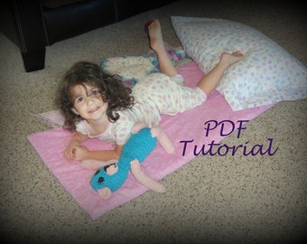 Very Easy!  PDF Quick And Easy Kindermat Cover TUTORIAL - Nap Mat Cover - Napmat, Kinder mat - ePATTERN - Daycare, Preschool Naptime Mat
