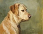 Original Oil Painting Yellow Lab Dog Painting One Of A Kind Art