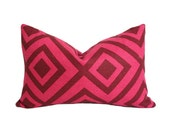 La Fiorentina David Hicks - Wine & Magenta colorway - Lumbar Designer Pillow Cover double-sided - AriannaBelle