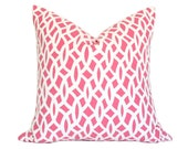 Chain Link Cerise - Designer Pillow Cover (made-to-order)
