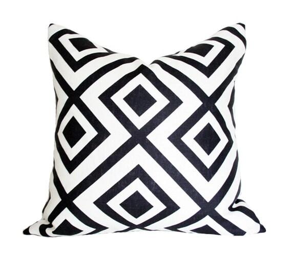 La Fiorentina Black David Hicks Designer Pillow Cover