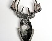 Uncle Randy's Deer Woodcut Sculpture Print