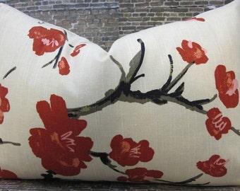 Designer Pillow Cover  - Flowering Branch - Lumbar