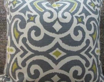 3BModLiving Designer Pillow Cover - 18 x 18, 20 x 20, 22 x 22 Robert Allen Damask Greystone