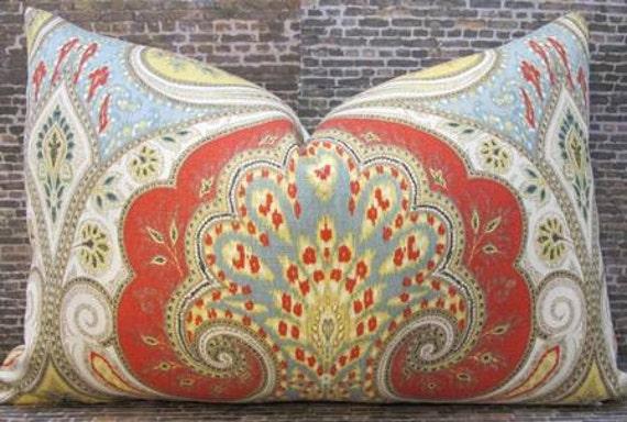 Designer Pillow Cover 10 x 24 -  Latika Ikat Festival