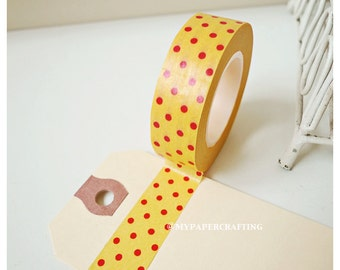 Washi Tape Orange with red polka dot