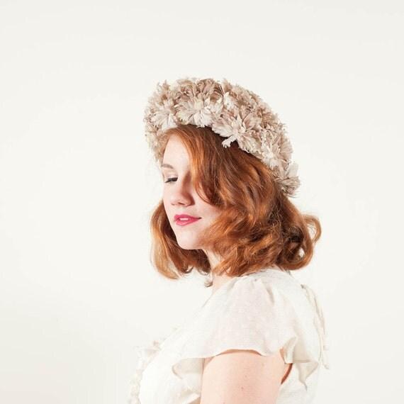 vintage 1960s hat / floral hat / Wendy