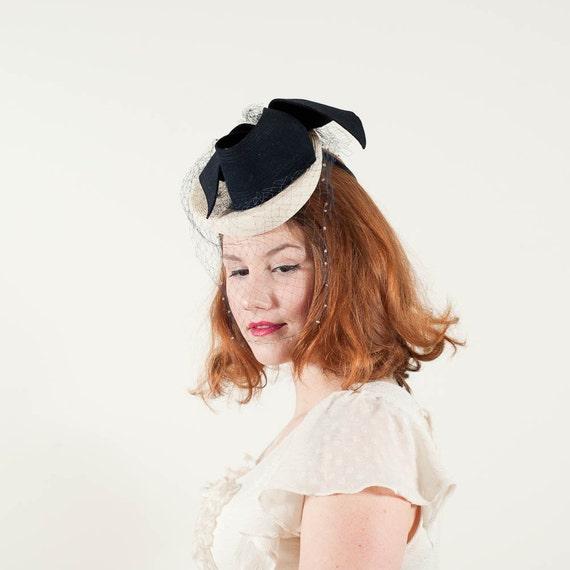 vintage 1930s hat / tilt hat / Evelynvaron