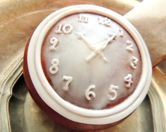 POCKET WATCH SOAP, Keeping Thyme, Time, Copper Pocket Watch Soap, Custom Scented, Watch Soap, For Him, Vegetable Based