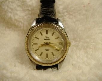 Vintage 1970s Timex Indiglo Calendar Quartz Watch