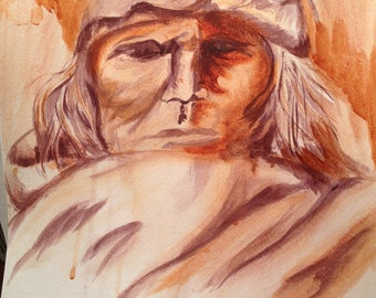 """Native American Painting - """"Resolute"""""""
