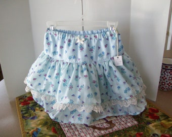 Ruffled Skirt, Double Ruffle with Lace, Toddler Size 3, Ready to Ship