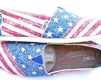 The Liberty - American Flag Custom TOMS