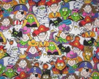 "Alvyn fabrics Halloween kids in costumes fabric 1 yard 17"""